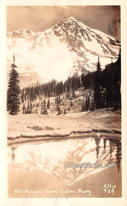 From Indian Henry - Mount Rainier, Washington WA Postcard