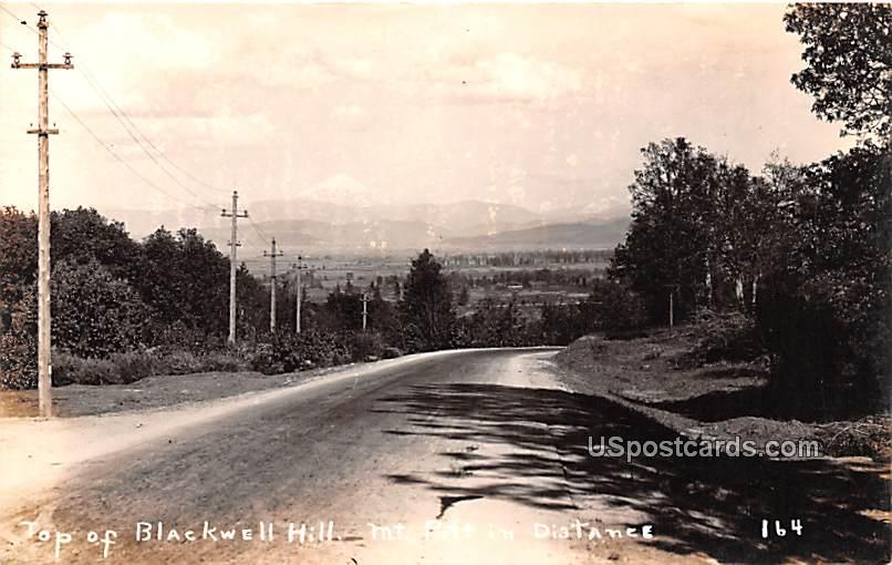 Top of Blackwell Hill - Mount Pritt, Washington WA Postcard