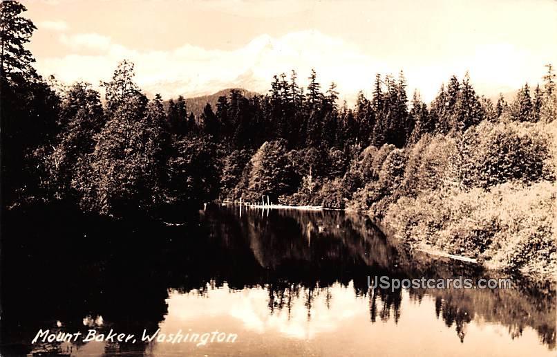 Lake View - Mount Baker, Washington WA Postcard