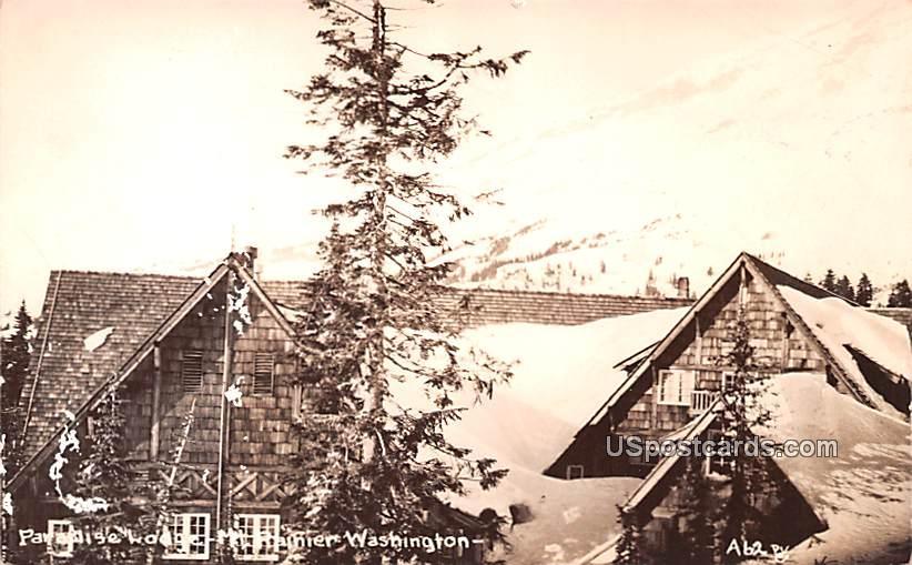 Paradise Lodge - Mount Rainier, Washington WA Postcard
