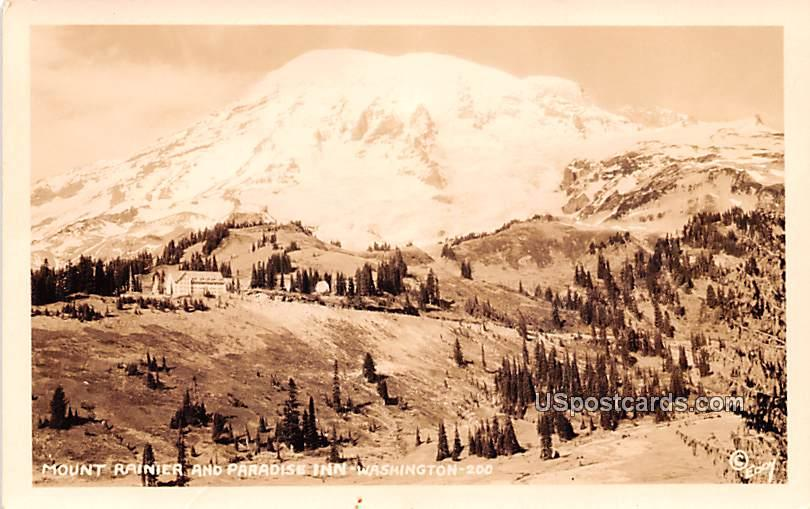 Paradise Inn - Mount Rainier, Washington WA Postcard