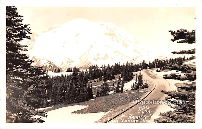 From Yakima Park - Mount Rainier, Washington WA Postcard