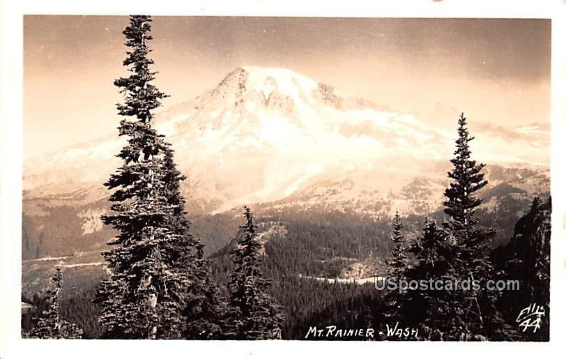 Birds Eye View - Mount Rainier, Washington WA Postcard