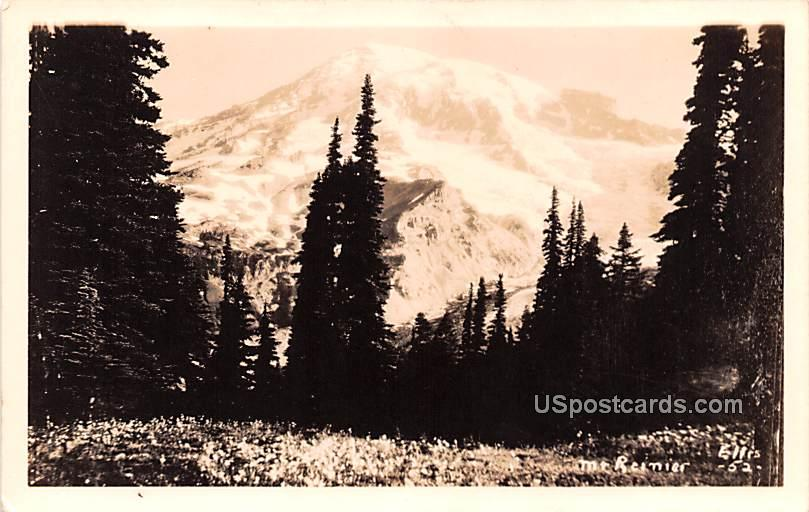 Mountain Scene - Mount Rainier, Washington WA Postcard