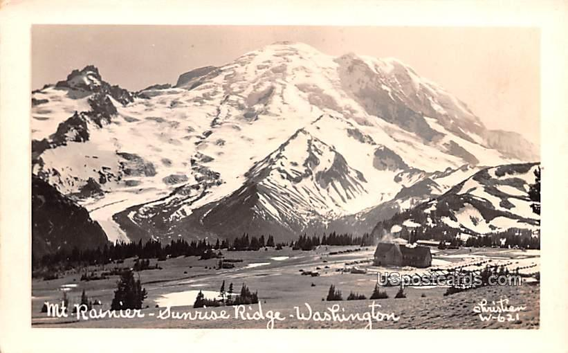Sunrise Ridge - Mount Rainier, Washington WA Postcard