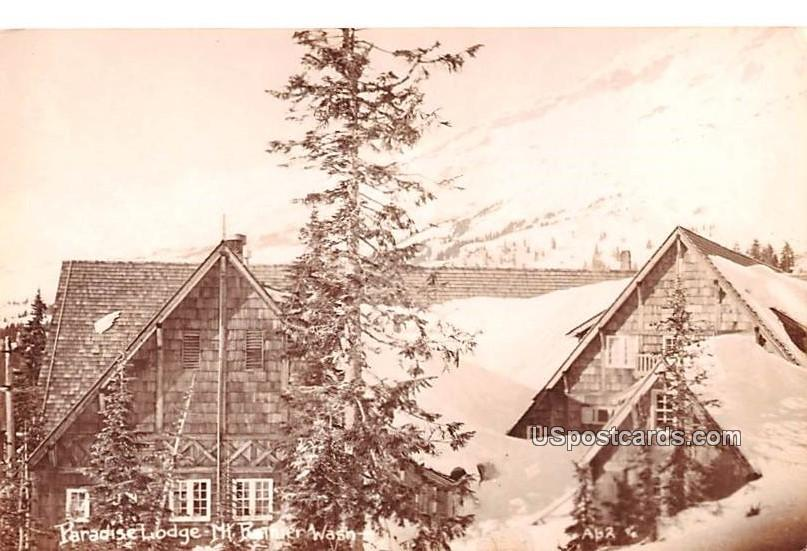 Paradise Lodge - Mount Rainier, Washington WA Postcard
