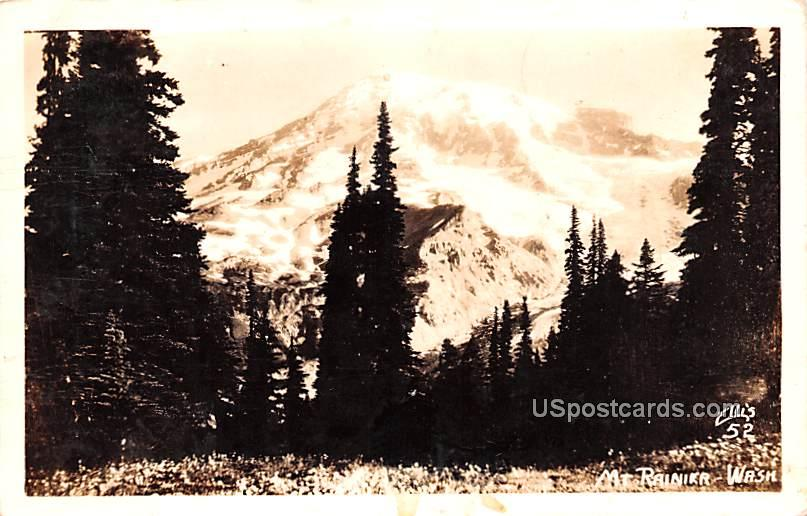 Mountain View - Mount Rainier, Washington WA Postcard