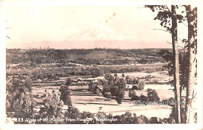 Vista from Highway 99 - Mount Rainier, Washington WA Postcard