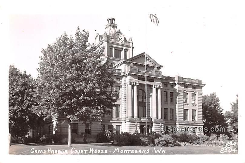 Grays Harbor Court House - Montesand, Washington WA Postcard
