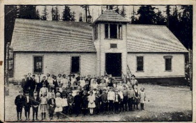 Public School - Three Lakes, Washington WA Postcard