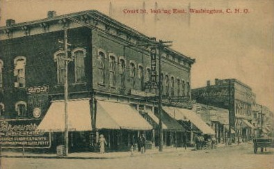 Court Street - Misc, Washington WA Postcard