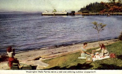 Washington State Ferries - Misc Postcard