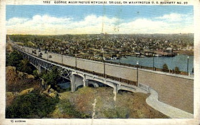 George Washington Bridge - Misc Postcard