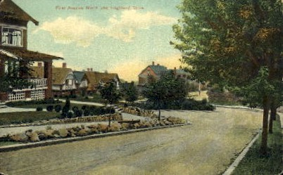 Highland Drive - Misc, Washington WA Postcard
