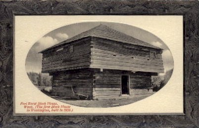 Fort Borst Block House - Misc, Washington WA Postcard