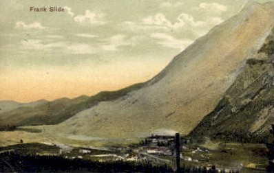 Frank Slide - Misc, Washington WA Postcard