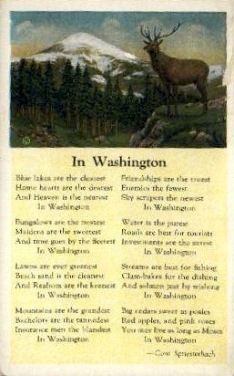 Poem about Washington - Misc Postcard