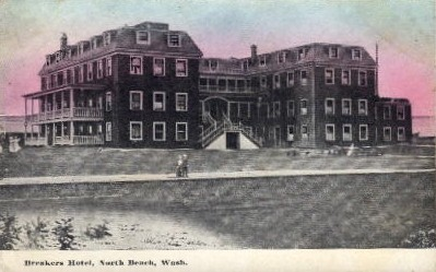 Breakers Hotel - North Beach, Washington WA Postcard