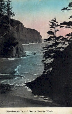 Deadman's Cove - North Beach, Washington WA Postcard