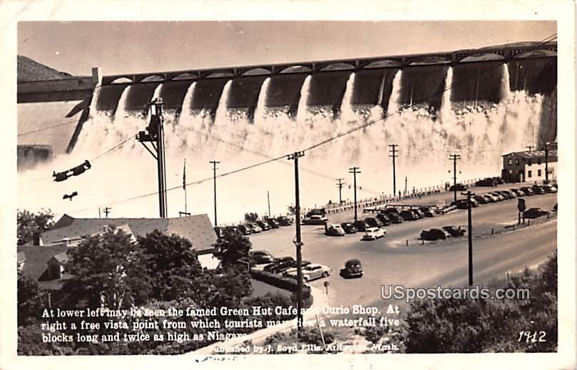 Green Hut Caf» and Curio Shop - Niagara Falls, Washington WA Postcard