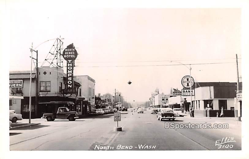 Street Scene - North Bend, Washington WA Postcard