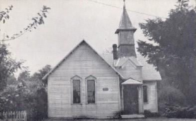 Oysterville Baptist Church - Washington WA Postcard