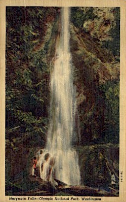 Marymere Falls - Olympia, Washington WA Postcard