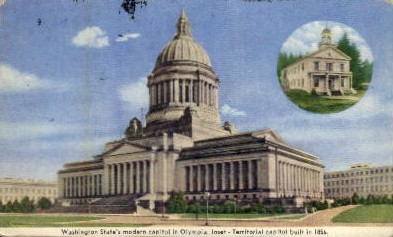 Washington State's Capitol - Olympia Postcard