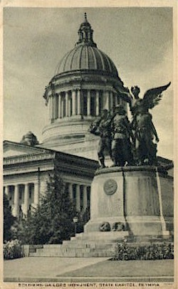 Soldiers-Sailors Monument - Olympia, Washington WA Postcard