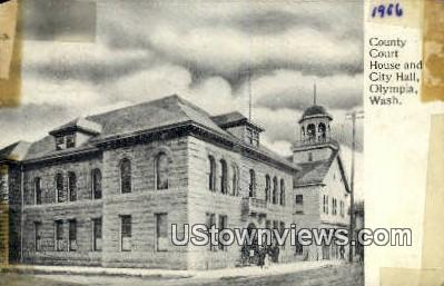County Court House & City Hall - Olympia, Washington WA Postcard
