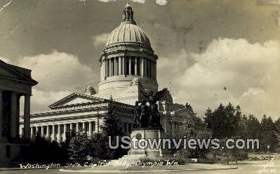 Real Photo - Washington Capitol - Olympia Postcard