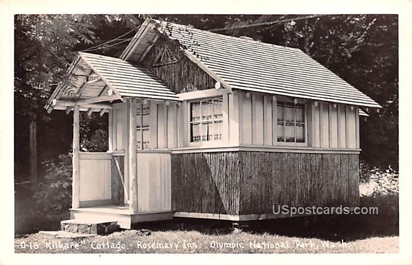 Kilkare Cottage - Olympic National Park, Washington WA Postcard