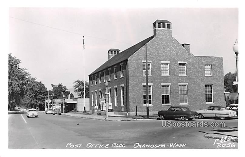 Post Office - Okanogan, Washington WA Postcard