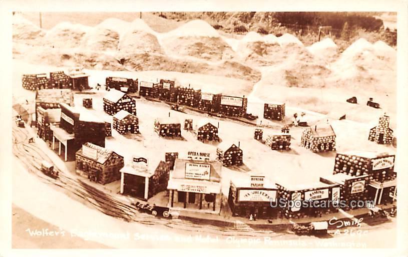 Wolfers Eaglemount Service and Motel - Olympic Peninsula, Washington WA Postcard