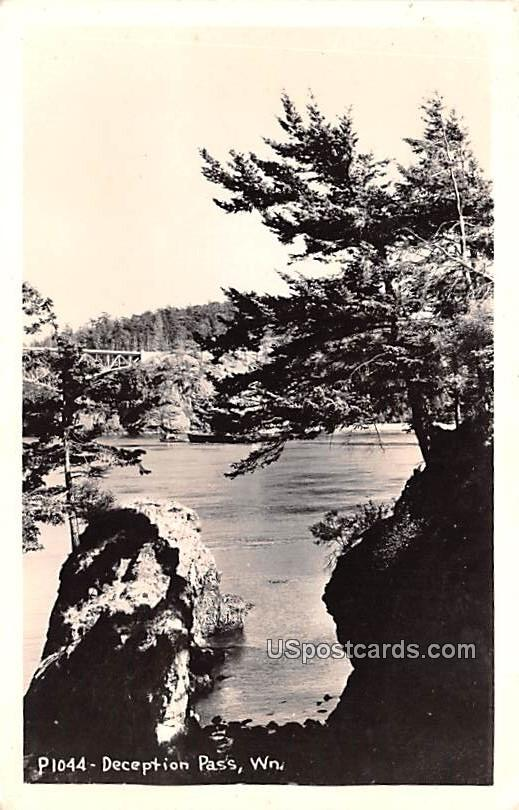 Deception Pass - Oak Harbor, Washington WA Postcard