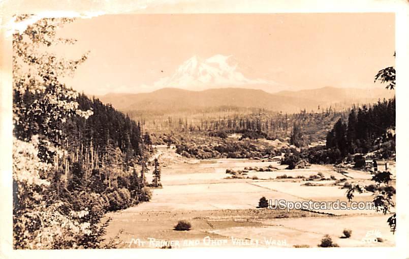 Mount Rainier - Ohop Valley, Washington WA Postcard