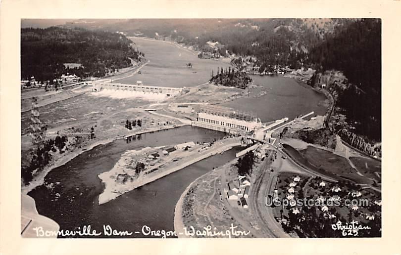 Bonneville Dam - Oregon, Washington WA Postcard