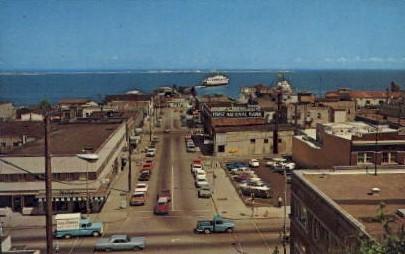 Birds Eye View Of Business District - Port Angeles, Washington WA Postcard