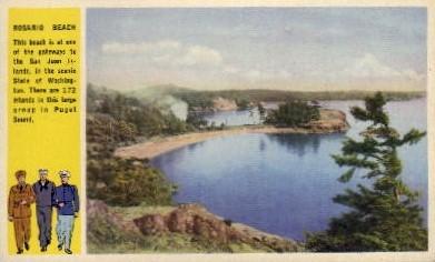 Rosario Beach - Puget Sound, Washington WA Postcard