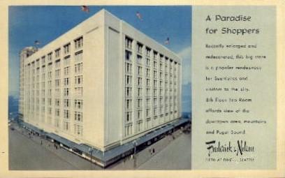 A Paradise For Shoppers - Puget Sound, Washington WA Postcard