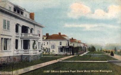 Officers Quarters - Puget Sound, Washington WA Postcard