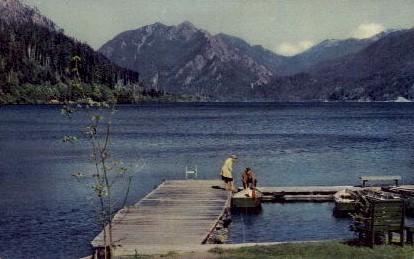 Crescent Lake - Washington WA Postcard