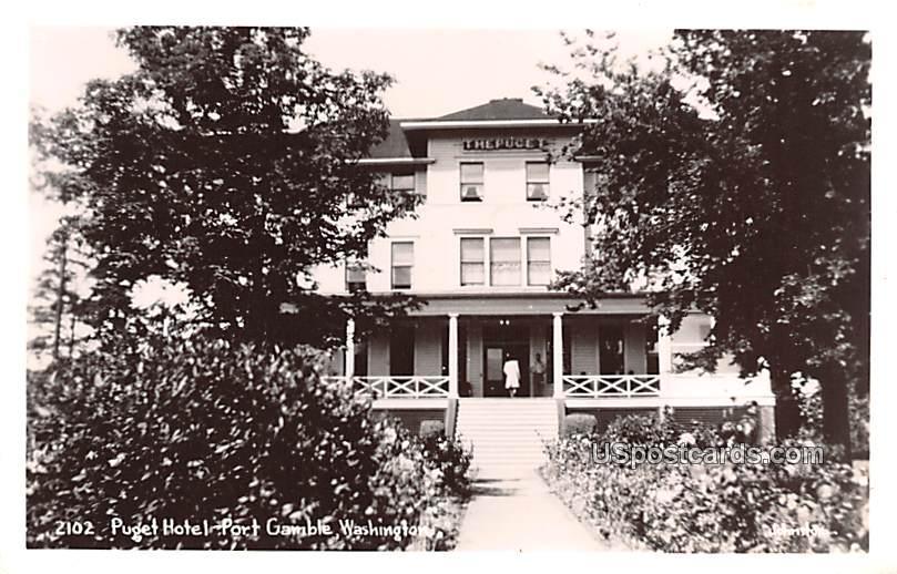 Puget Hotel - Port Gamble, Washington WA Postcard