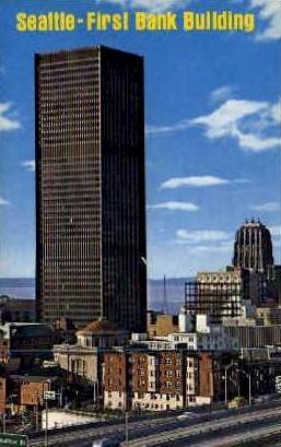 1st Bank Building - Seattle, Washington WA Postcard