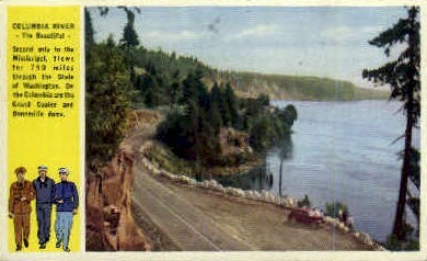 Columbia River - Misc, Washington WA Postcard