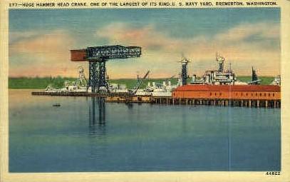 Hammer Head Crane - Bremerton, Washington WA Postcard