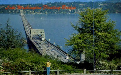 Lake Washington Floating Bridge - Misc Postcard