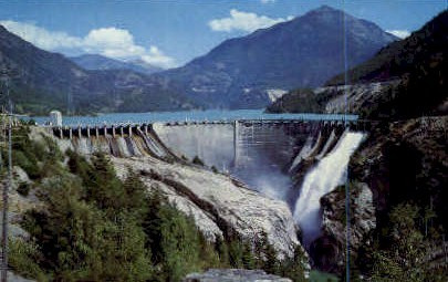 Diablo Dam - Misc, Washington WA Postcard