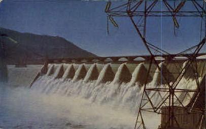 Grand Coulee Dam - Spokane, Washington WA Postcard