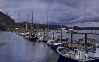 Fishing Fleet - Grays Harbor, Washington WA Postcard